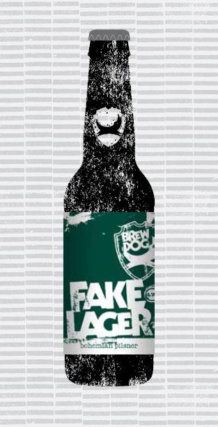 FAKE LAGER packaging