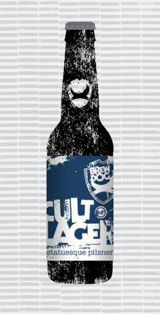 CULT LAGER packaging