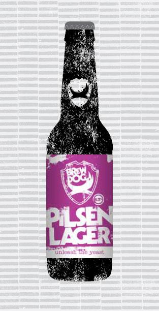 PILSEN LAGER packaging
