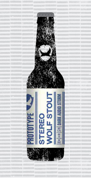 STEREO WOLF STOUT packaging