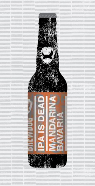 IPA IS DEAD - MANDARINA BAVARIA packaging