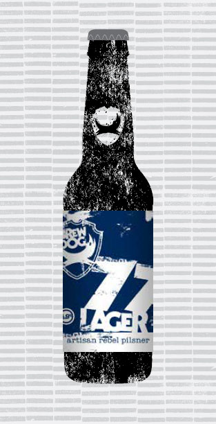 77 LAGER packaging
